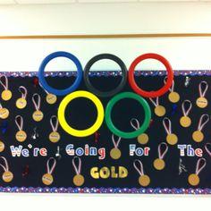 Olympic inspired bulletin board!