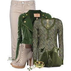 Green With Envy, created by myfavoritethings-mimi on Polyvore