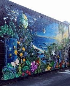 Street Art in Laneway (Melbourne, Australia)
