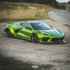 "Corvette ""Hulk"" Looks Angry, Keeps Turbos Far Back Exotic Sports Cars, Cool Sports Cars, Super Sport Cars, Fancy Cars, Best Luxury Cars, Futuristic Cars, Chevrolet Corvette, Corvette Zr1, Pontiac Gto"