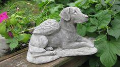 <3 Angel Dog Memorial Statue