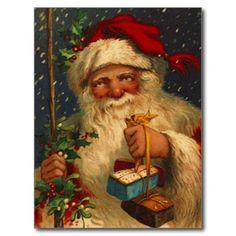 German Vintage Santa Postcard