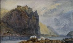 Joseph Mallord William Turner 'Hammerstein below Andernach', 1817  --  Bodycolour on paper  --    -  195 x 320 mm  -   © Johannesburg Art Gallery; Bequest. Estate of Late Christina Mary Furner