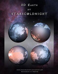 3D Earth by StarsColdNight.deviantart.com on @DeviantArt