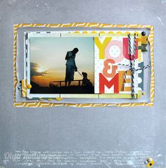 #papercraft #Scrapbook #layout.  You and me by Kotlyarova at @studio_calico