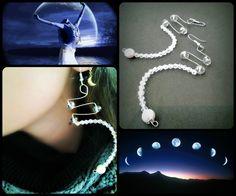 "earrings ""moon light"""
