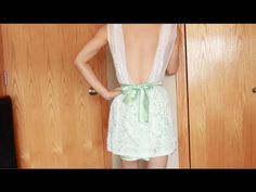 """DIY: curtain dress series part 3 of 4 """"lowback/backless style"""" Diy Fashion, Fashion Dresses, Do It Yourself Fashion, Summer Diy, New Wardrobe, Sewing Tutorials, Diy Clothes, Backless, Stylists"""