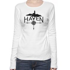 Haven Syfy Inspired T-Shirts: Haven Logo Black Silhouette Women's Long Sleeve T-Shirt
