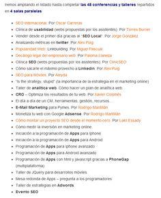 Programa provisional con los primeros temas para Congreso Web 2012. Todo relacionado con Internet, Marketing Online y Dispositivos Móviles. Entra en la web para ver más... Marketing Digital, Accounting, Internet, Proposals, Zaragoza, Social Networks, Events