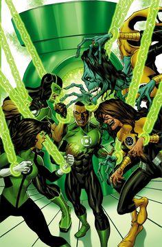 """GREEN_LANTERNS_24PERDIDA EN EL ESPACIO"""", parte tres.Cuando su entrenamiento en Mogo llega a su fin, Jessica y Simon se preparan para reunirse y regresar al sector 2814 y la Tierra, pero la nueva asociación entre el Green Lantern y Sinestro Corps puede significar reasignación y nuevos socios ."""