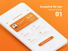 Banglalink My App redesign Concept by Shojol Islam