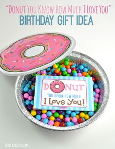 Cute Donut Quote Gift Card Printable and Homemade Birthday Gift Idea by Club Chica Circle.