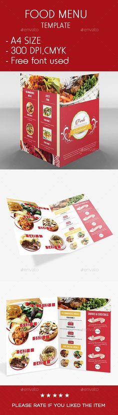 Buy Colorful Food Menu Template by sunmarkmedia on GraphicRiver. This is a PSD Colorful Food Menu Template.All layers are grouped. You can easily change your ph. Lunch Menu, Dinner Menu, Food Menu Template, Menu Templates, Gourmet Burger, Italian Menu, Menu Printing, Restaurant Menu Design, Daycare Menu
