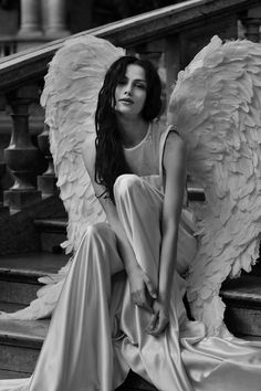 Black and White Photography Dark Angels, Angels Among Us, Angels And Demons, Foto Picture, Ange Demon, Angel And Devil, Ballet Photos, Angel Pictures, Beautiful Angels Pictures