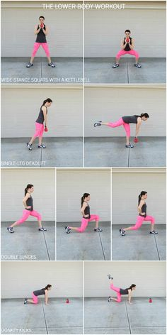 lower body workout to target your thighs, hamstrings and BUTT!