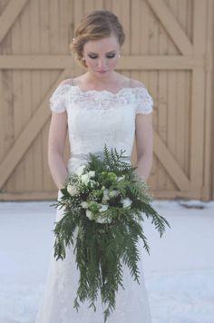 evergreen bouquet.