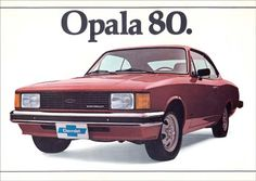 672 - GM - CHEVROLET - Opala 1980 - 29x41- Chevy, Ford Maverick, Car Brochure, Old School Cars, Chevrolet Bel Air, All Cars, Vintage Ads, Cars And Motorcycles, Auto Brochures