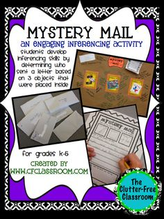 MYSTERY MAIL: A Super-Engaging Inferencing Activity (reading foundation skill) - Clutter-Free Classroom Reading Lessons, Reading Strategies, Reading Skills, Reading Comprehension, Library Skills, Comprehension Strategies, Library Lessons, Reading Intervention, Reading Nooks