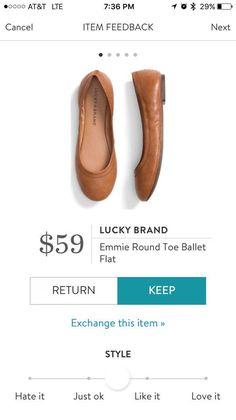 I need a pair of cute and comfortable flats that I can wear with anything and easily pack for work trips. Like this cognac color or black