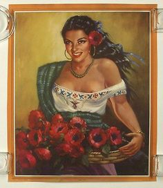 Vintage Mexican Erotic Provocative Pin Up Poster Abran Paso Village Beauty Mexican Artwork, Mexican Folk Art, Mexican Paintings, Pin Up, Jesus Helguera, Latino Art, Mexican Heritage, Mexico Art, Spanish Art