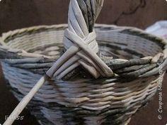 Мастер-класс Поделка изделие Плетение ручка для корзины Трубочки бумажные фото 34