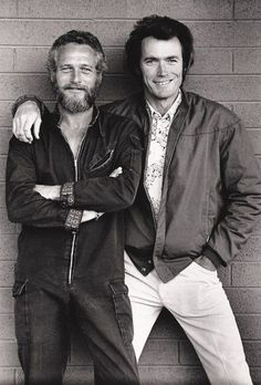 Paul Newman and Clint Eastwood buddying up. 1970s