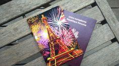 protège passeport Paris feu d'artifice Tour Eiffel de la boutique SophinouSacs sur Etsy