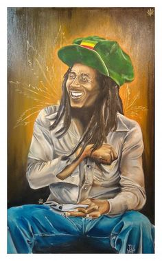 Bob Marley By Jeremy Worst. Limited Edition of 20 Giclee Canvas Prints. Signed and Stamped with my Logo. 40 x 24 x My Full Canvas print listing is here Image Bob Marley, Bob Marley Kunst, Bob Marley Art, Arte Do Hip Hop, Hip Hop Art, Art Rasta, Rasta Lion, Bob Marley Painting, Bob Marley Legend