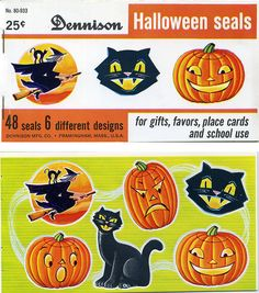 Dennison Halloween Seals - we were so happy when the teacher put one of these on our paper!