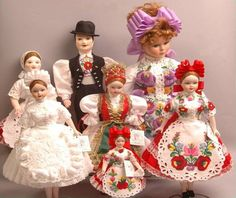 Hungarian Dolls in folk costumes