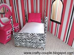 crafty couple: Diy Barbie Bed