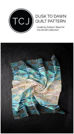 Cotton + Steel made this Dusk to Dawn Quilt Pattern by Then Came June to showcase their newest line Amalfi.
