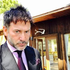 Occasionally one must get dressed up and act serious, very very serious. Joe Flanigan's instagram on SEPTEMBER 29, 2017