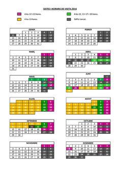 El blog de P.S.: Go!: Horari visites Monestir Gerri de la Sal 2014 Periodic Table, Blog, Periodic Table Chart, Periotic Table, Blogging