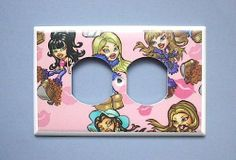 Bratz HORIZONTAL OUTLET Switch Plate switchplate . $7.99