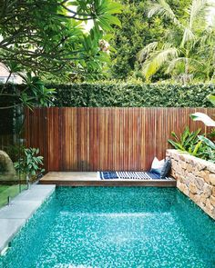 37 Amazing Small Pool Design Ideas On a Budget. Does not imply you can not delight at a pool of your life, just because you have got a backyard. Therefore, if you are eager to create swimming pool on . Small Backyard Design, Backyard Pool Designs, Small Backyard Pools, Backyard Landscaping, Landscaping Ideas, Backyard Ideas, Modern Landscaping, Fence Ideas, Garden Design