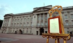 CORRECTING BYLINE A notice formally announcing the birth of a son to Britain's Prince William and Catherine,