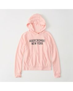 A&F Women's Logo Graphic Hoodie in Pink - Size XL