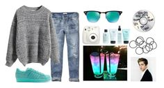 """Party w/ Logan"" by draaayya ❤ liked on Polyvore featuring Abercrombie & Fitch, WithChic, adidas Originals, Ray-Ban, philosophy, H&M, women's clothing, women, female and woman"