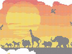 Africa Pattern African Cross Stitch Animals von NewYorkNeedleworks