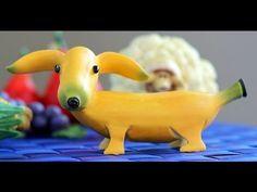 How to Make Banana Decoration   Banana Art   Fruit Carving Banana Garnishes - YouTube