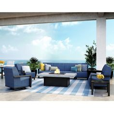 Outsunny 4pc Modern Sectional Patio Furniture Conversation Set   Grey |  Home: Patios | Pinterest | Sectional Patio Furniture, Patios And Girls  Apartment
