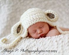 Crochet Pattern For Baby Lamb Hat : 1000+ images about Sheep Hat Patterns on Pinterest Lamb ...