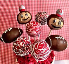 Hey, I found this really awesome Etsy listing at https://www.etsy.com/listing/179283659/ohio-state-cake-pops