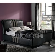 Get cozy while cuddling on mattresses of Coniston Black fabric stripe grain This object is a king size bed and provides enough for perfect relaxation and sleeping sessions. Modern Bedroom Furniture, Sofa Furniture, Cheap Furniture, Leather Sofa Set, Upholstered Bed Frame, Fabric Strips, Getting Cozy, Bed Storage, Mattresses