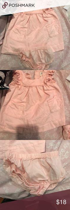 Baby gap girl dress & bloomer Slightly worn baby Gap girl dress and bloomer both size 0-3m GAP Dresses Casual