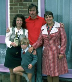 pic 59.  Trip to England, I don't know who these folks are. 1973.