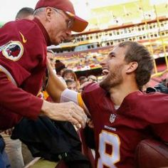 Watch: Redskins QB Kirk Cousins delivers football to cancer-stricken father after win