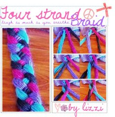 """Four strand braid. ♥"" by the-polyvore-tipgirls ❤ liked on Polyvore"