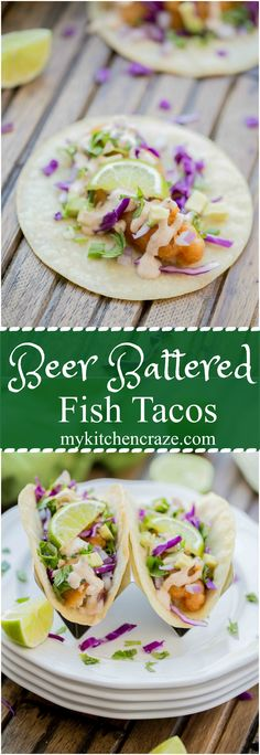 Do you love fish tacos, but have to go out to enjoy them? Well not anymore. These Beer Battered Fish Tacos are not only delicious, but easy to make in the comfort of your own home. Let me show you!